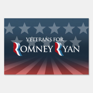 VETERANS FOR ROMNEY RYAN -.png Lawn Sign