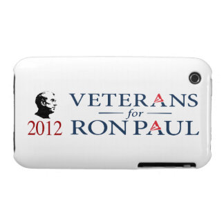 Veterans For Ron Paul For President 2012 iPhone 3 Case-Mate Case