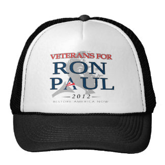 Veterans for Ron Paul png Mesh Hats