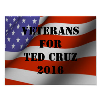 Veterans for Ted Cruz 2016 Poster