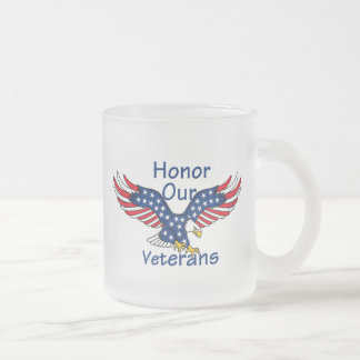 VETERANS FROSTED GLASS COFFEE MUG