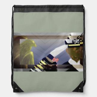 Veterans History Drawstring Bag - Khaki