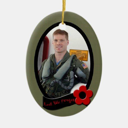Veteran's Memorial Photo Ornament Keepsake