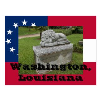Veterans Monument, Washington, St Landry Parish La Postcard