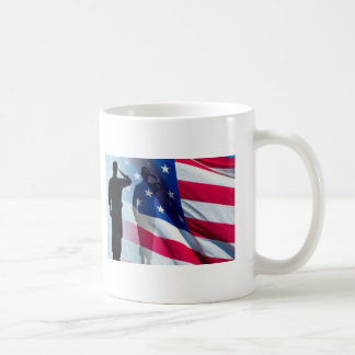 Veterans: Salute the Flag Patriotic Coffee Mugs
