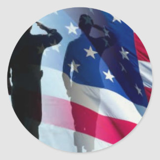 Veterans: Salute the Flag Stickers