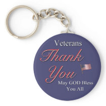 Veterans, Thank You, Keychain