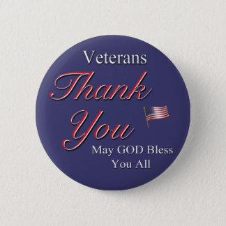 Veterans, Thank You, Pinback Button