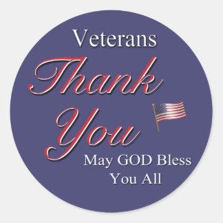 Veterans, Thank You, Sticker