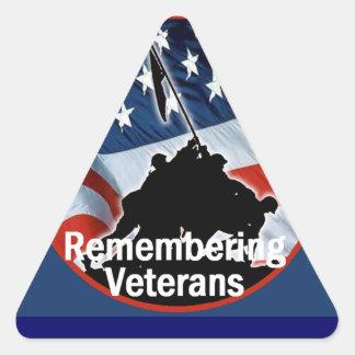 Veterans Triangle Sticker