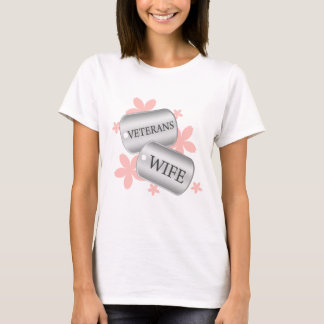 Veterans Wife Flowers T-Shirt