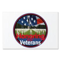 Veterans Yard Sign