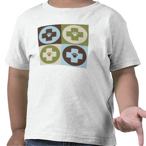 Veterinaría del arte pop camisetas