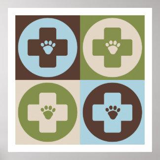 Veterinaría del arte pop póster