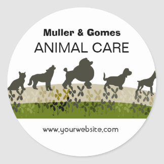 Veterinarian Animal Care Appointment Reminder Classic Round Sticker