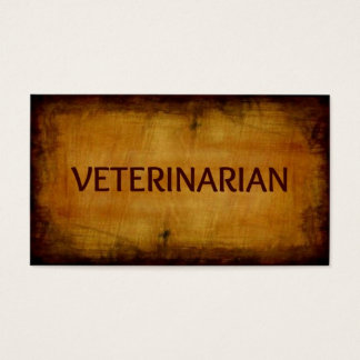 Veterinarian Antique Brushed Business Card
