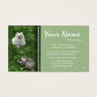 Veterinarian Appointment Business Cards ~ Green V