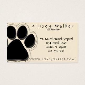 Veterinarian Business Card Black