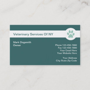 Veterinary business cards templates zazzle veterinarian business cards colourmoves