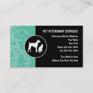 Veterinary business cards zazzle veterinarian business cards reheart Image collections