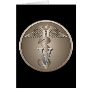Veterinarian Caduceus Card