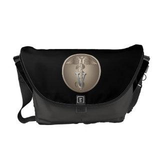 Veterinarian Caduceus Messenger Bag