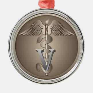 Veterinarian Caduceus Metal Ornament