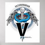 Veterinarian Caduceus Poster