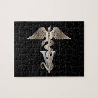 Veterinarian Caduceus Jigsaw Puzzle