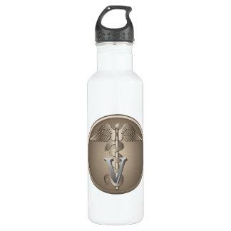 Veterinarian Caduceus Stainless Steel Water Bottle