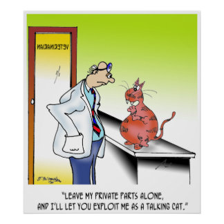 Veterinarian Cartoon 9480 Poster
