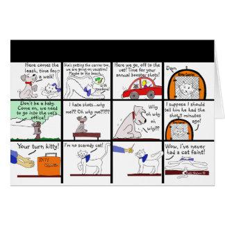 Veterinarian Cartoon Card