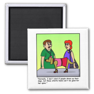 Veterinarian Cartoon Magnet