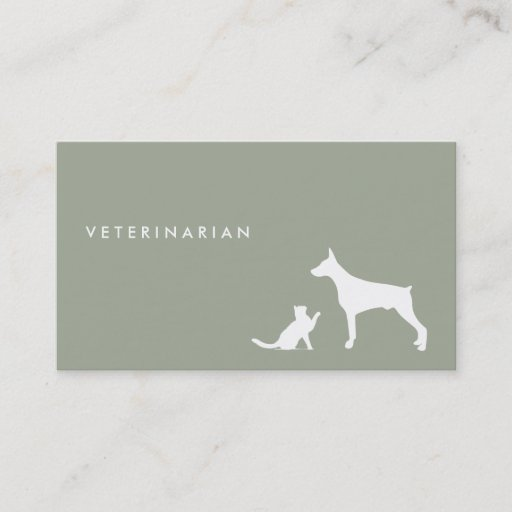 Veterinarian Cat And Dog Business Card
