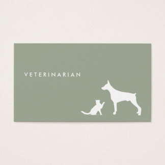 Veterinarian Cat and Dog ı business card