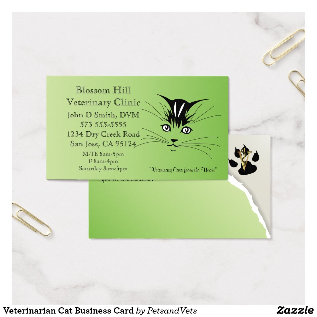 Veterinarian Cat Business Card