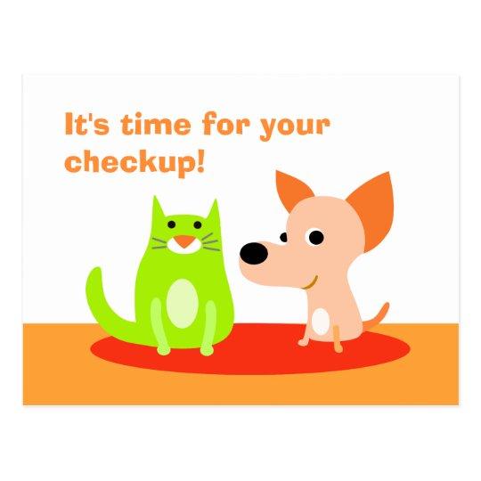 Veterinarian Checkup Reminder Postcard