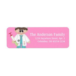 Veterinarian d1 Return Address Labels