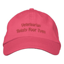 Veterinarian Embroidered Baseball Cap