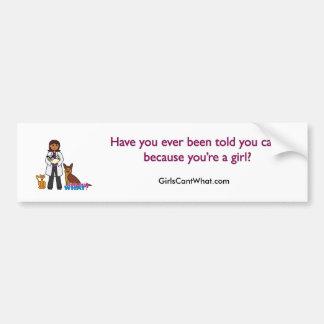 Veterinarian Girl - Dark Bumper Sticker