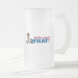 Veterinarian Girl Frosted Glass Beer Mug