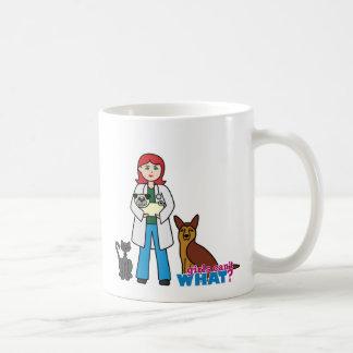 Veterinarian Girl - Light/Red Coffee Mug