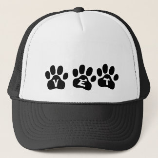 Veterinarian Hat with Paw Prints