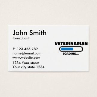 Veterinarian loading business card