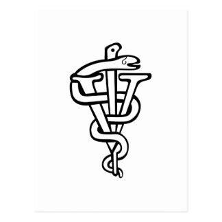 Veterinarian logo postcard