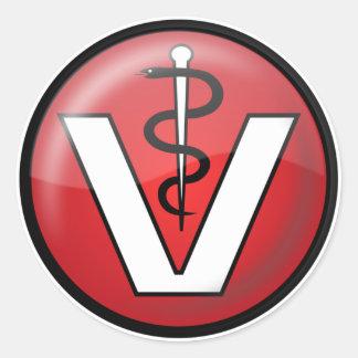 Veterinarian Medical Symbol Classic Round Sticker