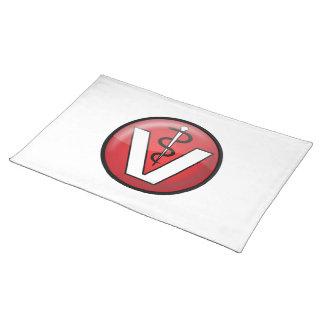 Veterinarian Medical Symbol Cloth Place Mat