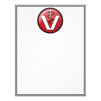 Veterinarian Medical Symbol Customized Letterhead
