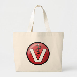 Veterinarian Medical Symbol Tote Bags