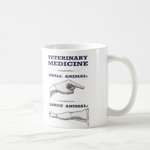 Veterinarian Mug large vs. small animal practice
